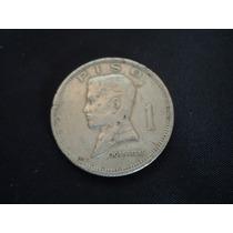Moneda Filipinas 1 Piso Jose Rizal Año 1972