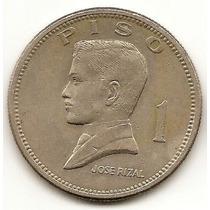 Filipinas 1 Piso 1974 * Jose Rizal * Enorme *