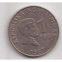 Filipinas Moneda De 1 Piso Año 1997 !!