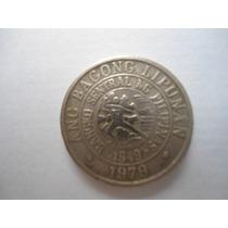 Filipinas 25 Centavos 50 Aniversario Banco Central 1949-1979