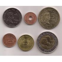 Filipinas Serie 6 Monedas Años Varios Sin Circular!