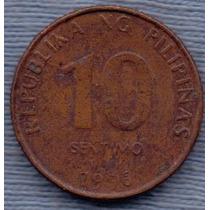 Filipinas 10 Sentimos 1996 * Banco Central *