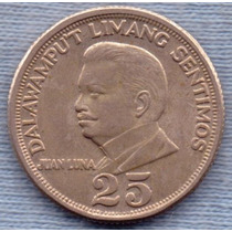 Filipinas 25 Sentimos 1971 * Juan Luna *