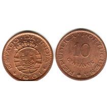Moneda De India Portuguesa 10 Centavos Año 1961 Sin Circular