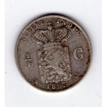 Indias Holandesas 1/4 Gulden De Plata Año 1893