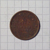 India Colonia Inglesa 1/2 Pise 1888