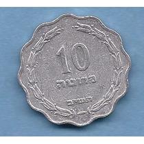 Israel, Moneda De 10 Pruta Del Año 1952 - Km#17