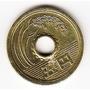 Japón, Moneda De 5 Yenes Del Año 1989