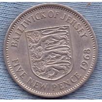 Jersey 5 New Pence 1968 * Elizabeth Ii * Escudo *
