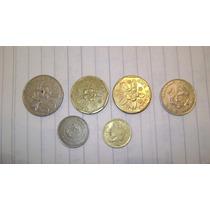 6 Monedas De Singapur 3 , 19 , 29 ,50 Centavos Y 1 Dolar