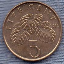 Singapur 5 Cents 1997 * Ensalada De Vegetales *