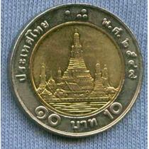 Tailandia 10 Baht 2009 Bimetalica * Templo Del Amanecer *