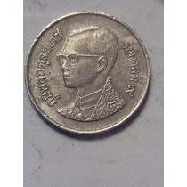 Tailandia Moneda 1 Baht Año 1991, Niquel