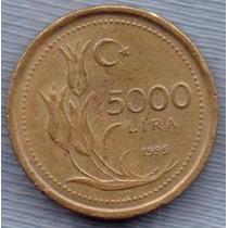 Turquia 5000 Lira 1995 * Presidente Ataturk * Enorme *