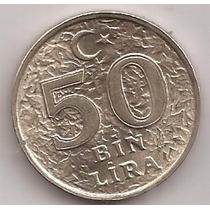 Turquia Moneda De 50000 Lira Año 1996