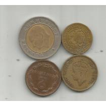 Monedas Del Mundo Lote X 4 Una Bimetalica