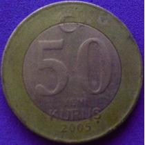 Spg - Turquia 50 Yeni Kurus 2005 ( Bimetalica ).