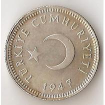 Turquia, 50 Kurus, 1947. Plata. Sin Circular