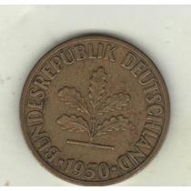 Alemania Federal Moneda De 10 Pfennig 1950 J Km 108 - Vf+++