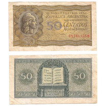 Argentina, Billete De 50 Centavos, Bottero 1907