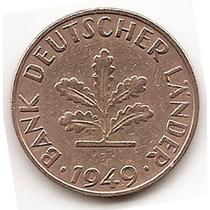 Moneda Alemania Federal 10 Pfnnig Año 1949 G