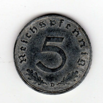 Bkz - Alemania Nazi - 5 Reichspfennig 194 Error Fecha