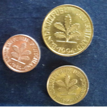 Lote De Tres Monedas Alemanas Bundesrepublik Deutschland 94