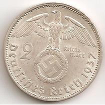 Alemania Tercer Reich, 2 Reichsmark, 1937 A. Sin Circular