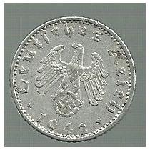 Alemania Tercer Reich 50 Pfennig 1942 A
