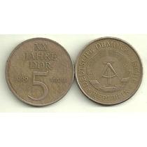 Moneda Alemania Oriental 5 Marcos Año 1969 Muy Buena