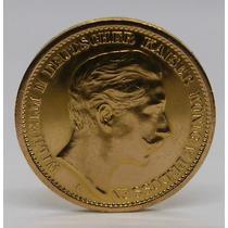Bellisima Moneda Alemana Oro Macizo 22 - 20 Mark - Data 1906