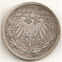 Alemania Imperio, 1/2 Mark, 1905 A. Plata. F++