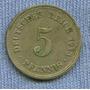 Alemania Imperio 5 Pfennig 1913 A * Wilhelm I *