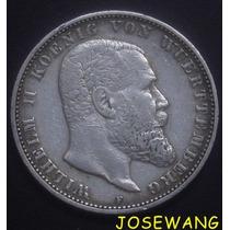5 Mark. Moneda Antigua Alemana Del Año 1895 Plata