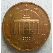 Moneda De Alemania De 20 Centavos De Euro Año 2002 Km#211