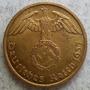 Moneda Nazi 3er. Reich Alemania 10 Reichspfennig 1937 Km#91