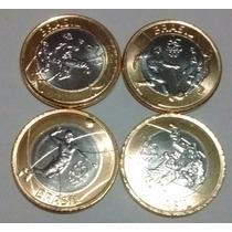Lote 4 Monedas Bimetálicas Olimpiadas Brasil
