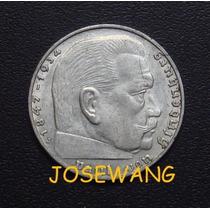 2 Reichsmark . Moneda Antigua Alemana Del Año 1939 Plata J