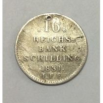 Moneda Germay State 16 Reichsbank 1831. Plata. Alemania