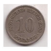 Alemania Antigua Moneda De 10 Pfennig Año 1903