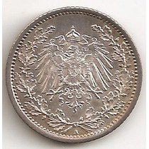 Alemania Imperio, 1/2 Mark, 1915 A. Plata. Unc