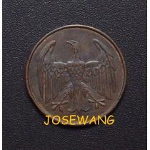 4 Reichspfennig. Moneda Antigua De Alemana Del Año 1932