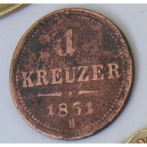 1 Kreuzer 1851-austria-
