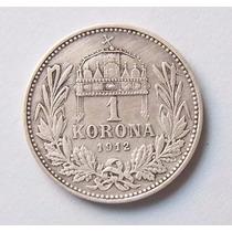 Hungria 1 Korona 1912 Plata Excelente
