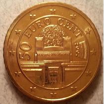 Moneda De Austria 50 Centavos De Euro Del Año 2002 Km#3087