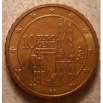Moneda De Austria De 10 Centavos De Euro Delaño 2002 Km#3085