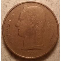 Moneda Del Reino De Bélgica De 1 Franco Año 1951 Km#142.1