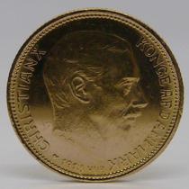 Importante Moneda Oro Macizo 22k Dinamarca 1913 - 20 Kroner