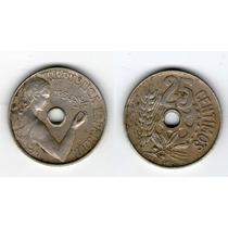 España 25 Centimos 1934 Republica Española Vf