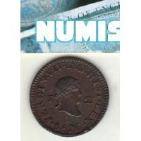 España Moneda De 2 Maravedis Año 1820 J (jubia) Km 486 - Xf